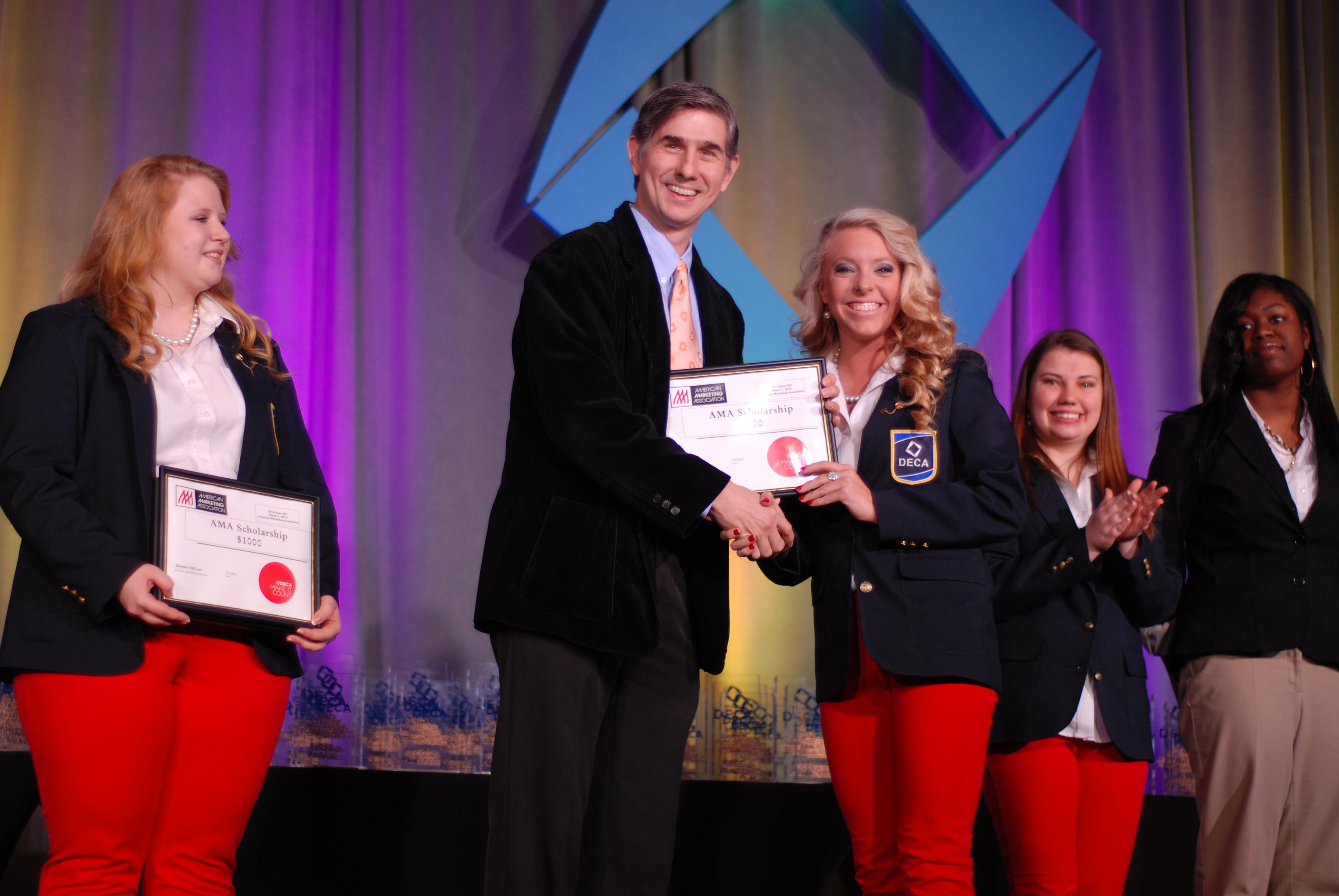 DECA Scholarship Winner