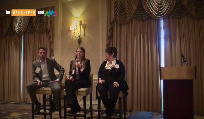 Video screenshot from Millennials in the Workplace - AMA Atlanta Signature Luncheon - panel